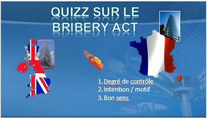 Quizz sur le Bribery UK act (en français)